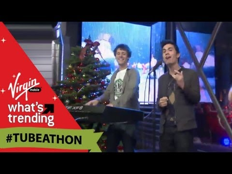 "Sam Tsui and Kurt Hugo Schneider Perform ""Heads Up"" LIVE at #Tubeathon"