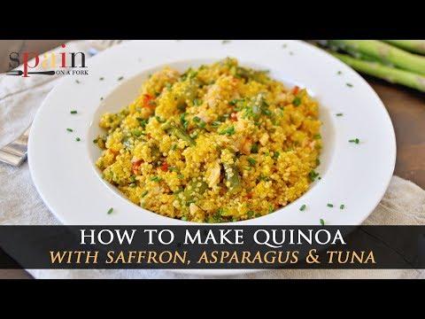 Incredible Saffron Quinoa Recipe with Asparagus & Tuna