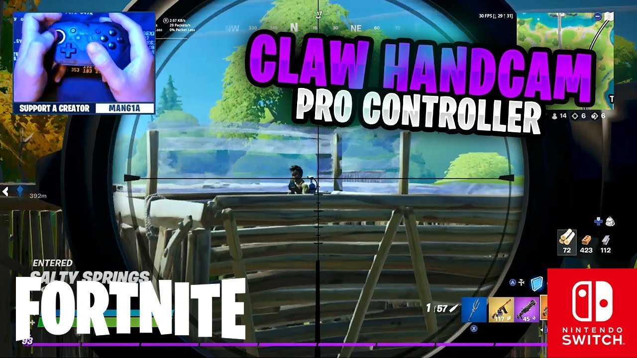 CLAW HANDCAM - Fortnite on the Nintendo Switch Pro Controller #85