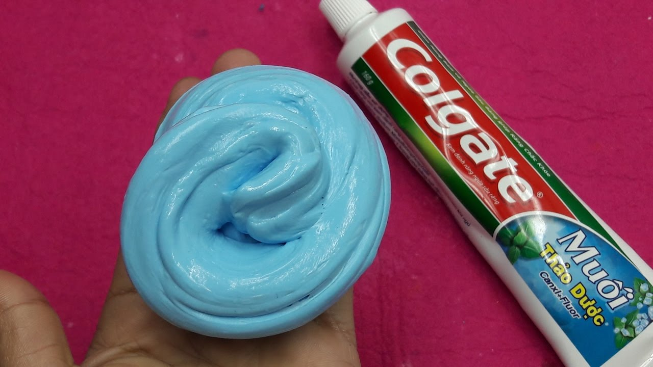 How to make slime with toothpaste