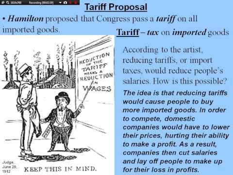 Hamiltons's Economic Plan/Growing Pains: Banks, Tariffs And Rebellion