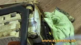 professional plastic repair a chainsaw Stihl -  профессиональный ремонт бензопилы Stihl . Видеоурок