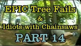 PART 14 - EPIC tree fails around the world compilation & IDIOTS with chainsaws