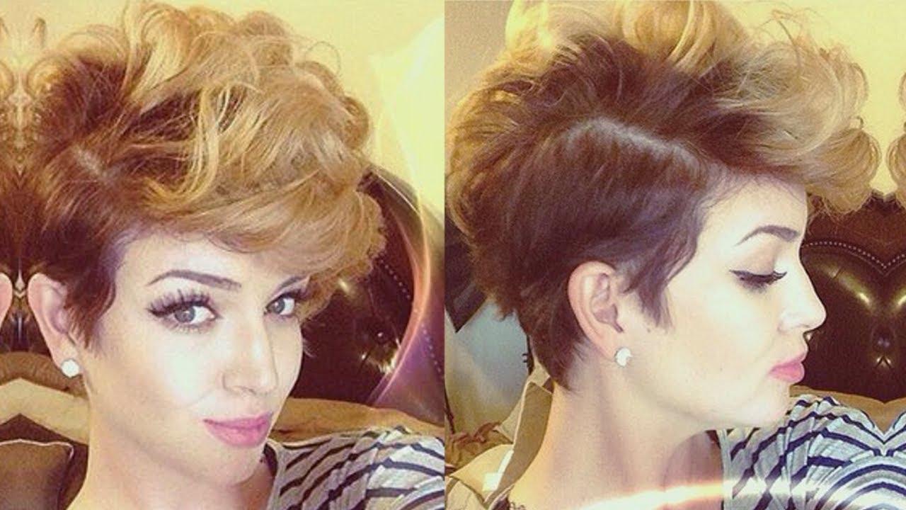 0 Cut Hair Style: Big Edgy Waves ♡ Short Hair Tutorial