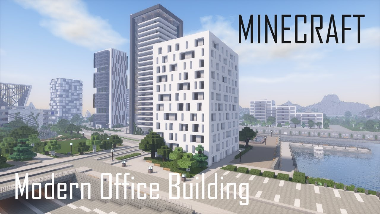 Minecraft Modern Office Building 5 Full Interior Download Youtube