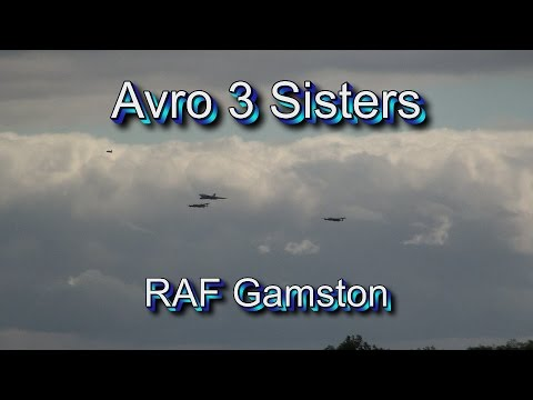 Avro 3 Sisters fly over RAF Gamston, 21/8/2014