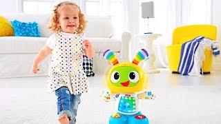 Інтерактивна іграшка робот Бібо. Мультики пісеньки для дітей.