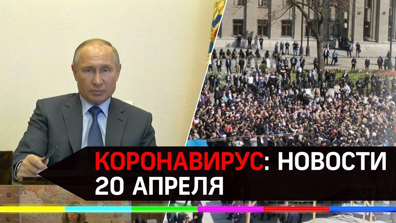 Коронавирус 20 апреля:митинг во Владикавказе,совещание Путина с вирусологами, смягчение самоизоляции