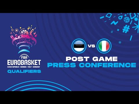 Estonia v Italy - Press Conference - FIBA EuroBasket Qualifiers 2021