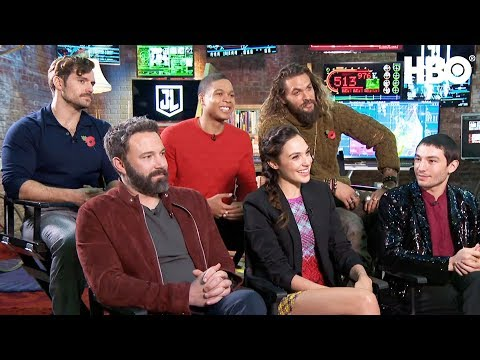 'The Justice League' Interview w/ Ben Affleck, Gal Gadot, Jason Momoa & More | HBO