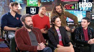 'The Justice League' Interview w/ Ben Affleck, Gal Gadot, Jason Momoa & More | HBO