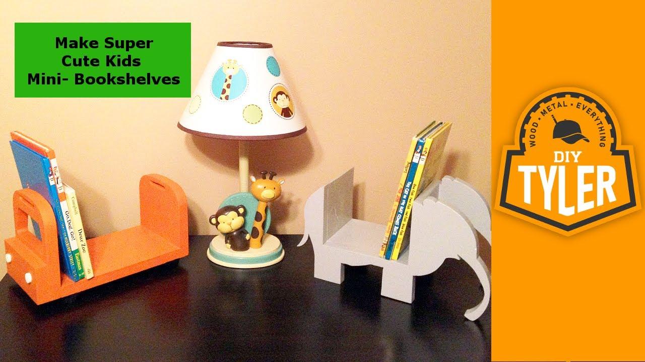 super cute kids mini bookshelves 014 youtube - Cute Bookshelves