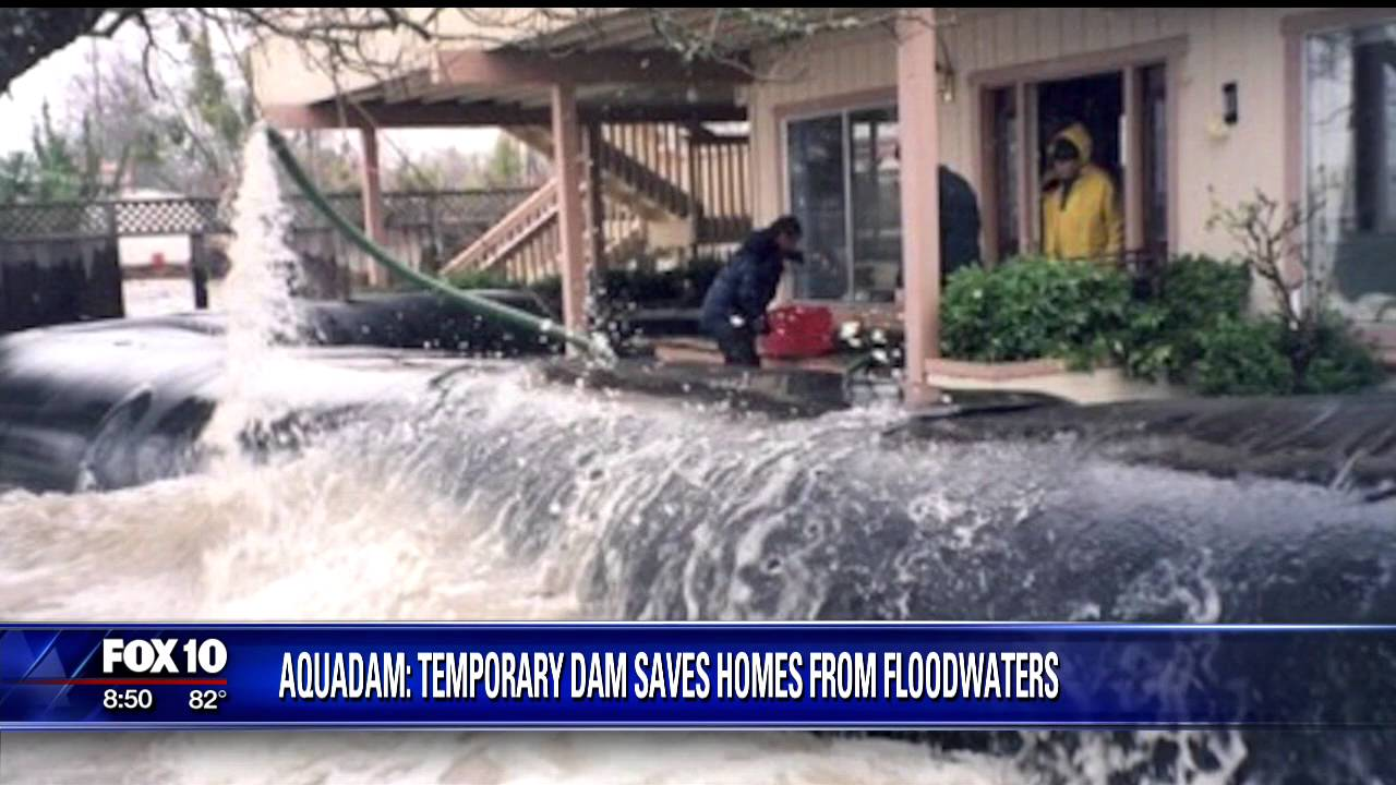 Rubber dams help protect homes from flooding