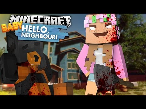 Minecraft HELLO NEIGHBOR - LITTLE KELLY HAS BECOME THE EVIL NEIGHBOUR - Donut the Dog Minecraft