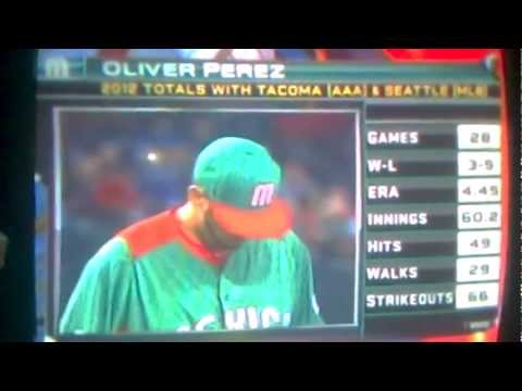 clasico mundial de beisbol :el culichi oliver perez::