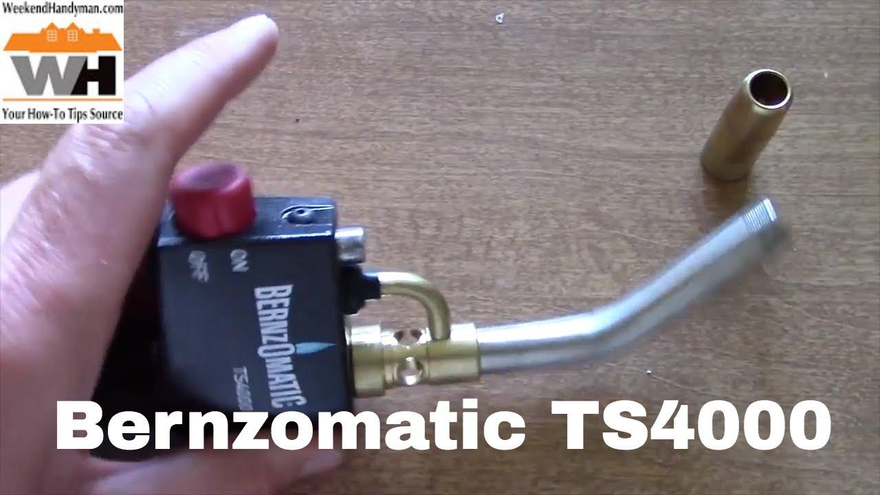 #Bernzomatic TS4000 Trigger Start Propane Torch Head   Weekend Handyman