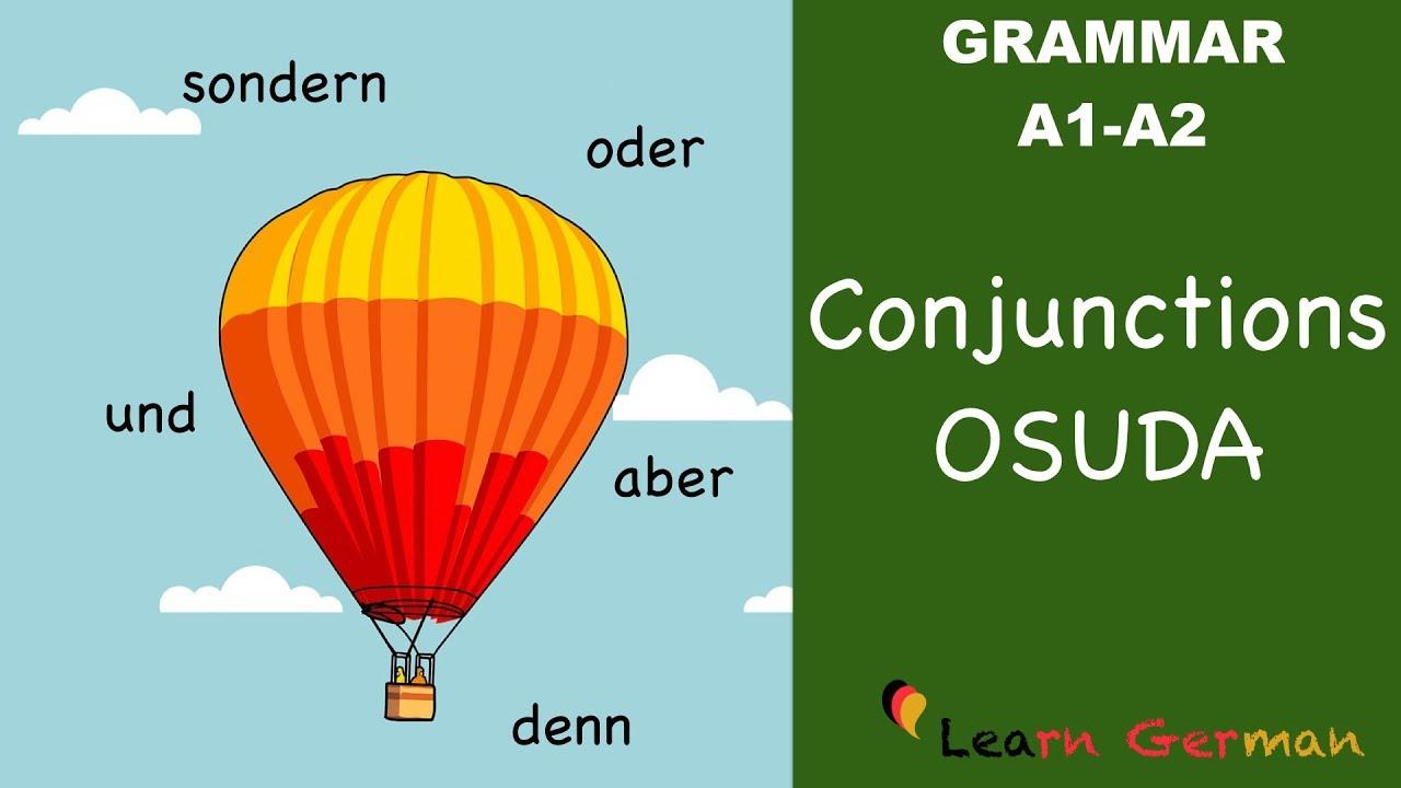 Download Learn German | German Grammar |  Konjunktionen | oder, sondern, und, denn, aber | A1 | A2