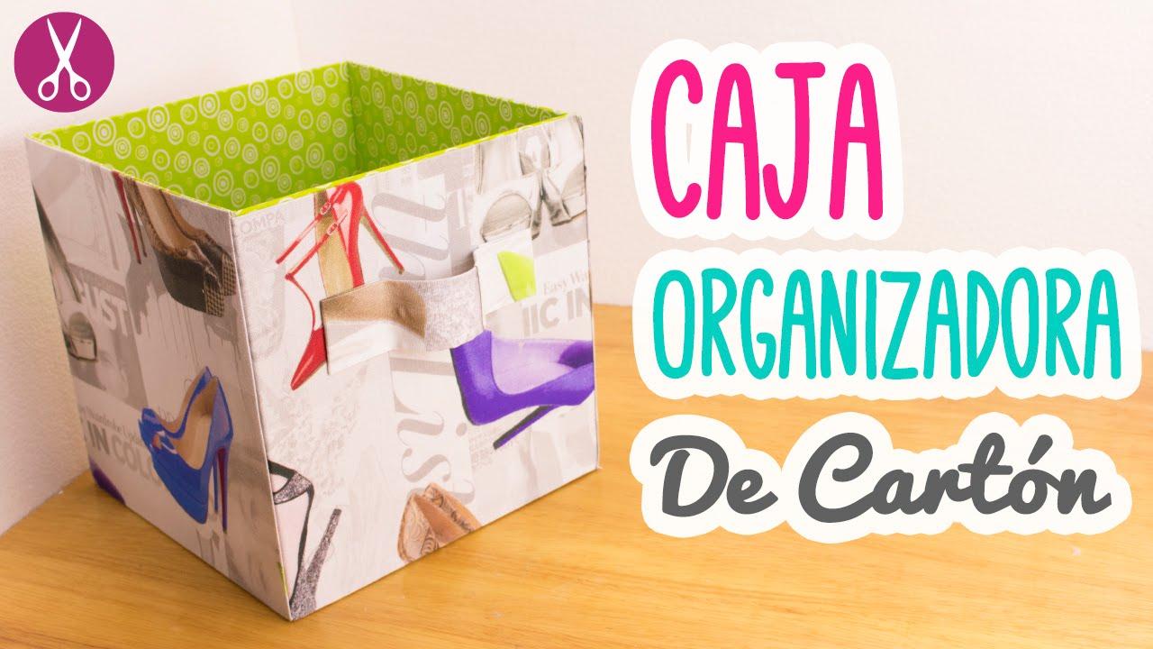 Caja Organizadora de Cartn Cartonaje para Principiantes