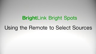 Epson BrightLink Projectors | How to Select Image Sources Using the Remote Control