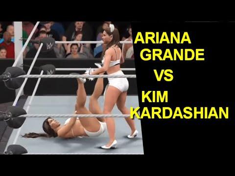 WWE 2K17 Ariana Grande vs Kim Kardashian