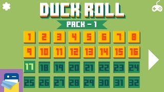 Duck Roll: Pack 1 levels 1 - 16 Walkthrough Guide & iOS iPhone 6S Gameplay (by Mamau)