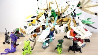 LEGO NINJAGO 70679 The Ultra Dragon - Lloyd Wu Lord Garmadon Spitta Lasha Pythor