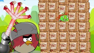 Angry Birds Collection Birds 1 - HUGE TERENCE SHOOTING AND THROWING STONE TO PIGGIES!