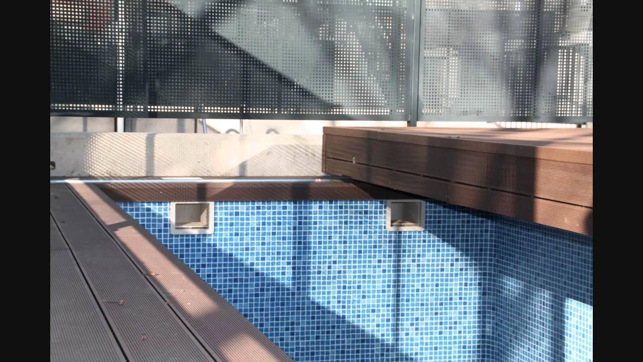 Cubierta corredera para piscinas for Piscina quart de poblet cubierta