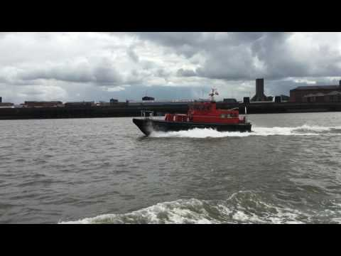 Mersey ferry Cruise on the Royal Iris of the Mersey, Pier Head to Seacombe