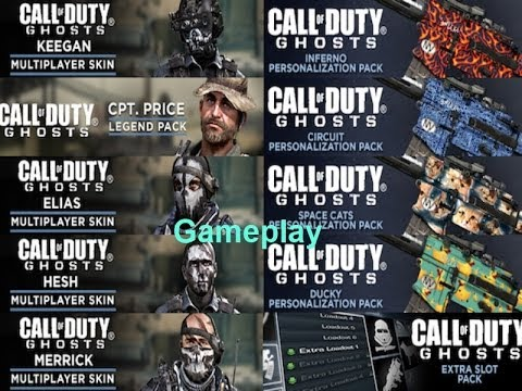 Call of Duty Ghost NEW DLC! Captain Price, Ghosts characters & Extra Class  slots!