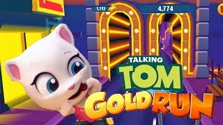 Talking Tom Gold Run FULL SCREEN ANGELA In Las Vegas