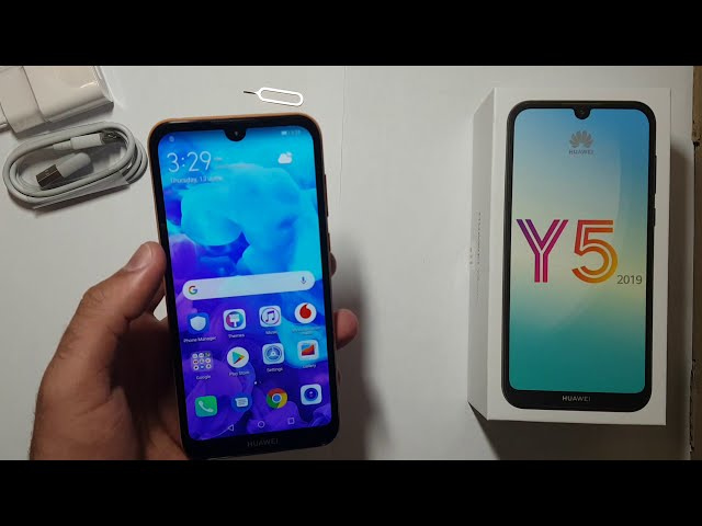 Huawei Y5 2019 unboxing and brief overview (English)