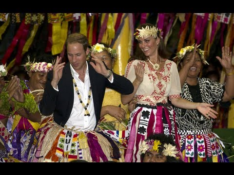 William and Kate dance in Tuvalu