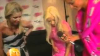 Christina Aguilera & Paris Hilton & NIcki Hilton  Jeremy Scott Fashion Show