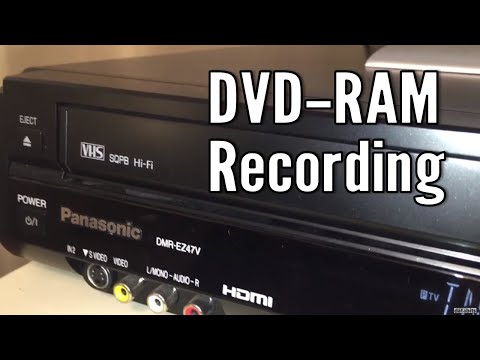 Vintage Video Dub DVD-RAM Panasonic DMR-EZ47V