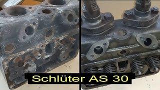 Schlüter AS 30 Zylinderkopf mit Rissen bei Redhead Zylinderkopftechnik zum Schweißen