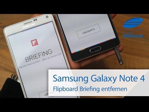 Samsung Galaxy Note 4 Flipboard Briefing entfernen