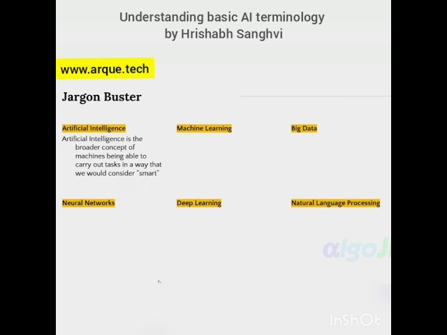 Artificial intelligence terminology
