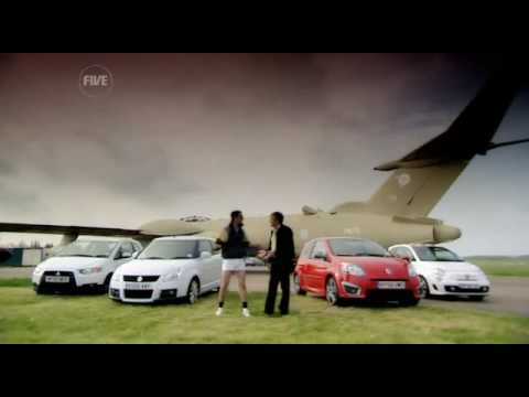 mitsubishi colt ralliart vs fiat 500 abarth vs suzuki swift sport vs renault twingo sport fifth gear test