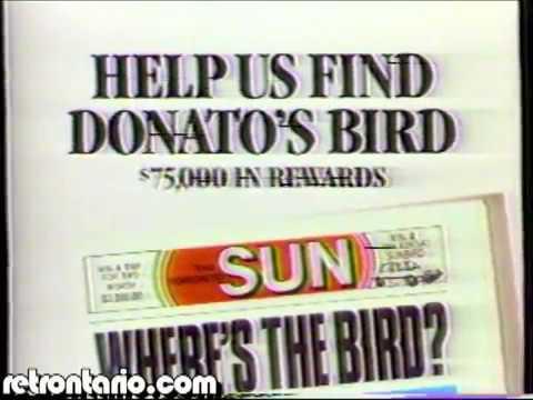 Toronto Sun Donatos Bird (1985)