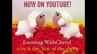 Rainbow loom Sheep - Loomigurumi - Looming WithCheryl