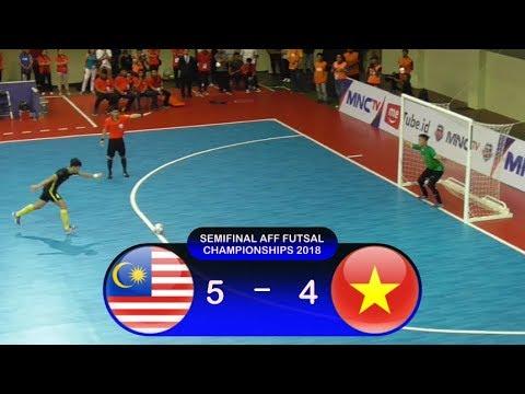 Adu Penalti Malaysia Vs Vietnam (5-4) Semifinal AFF Futsal Championship 2018