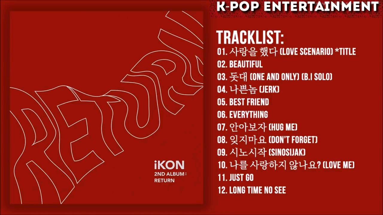 [Full Album] iKON - RETURN | The 2nd Album — TRACKLIST