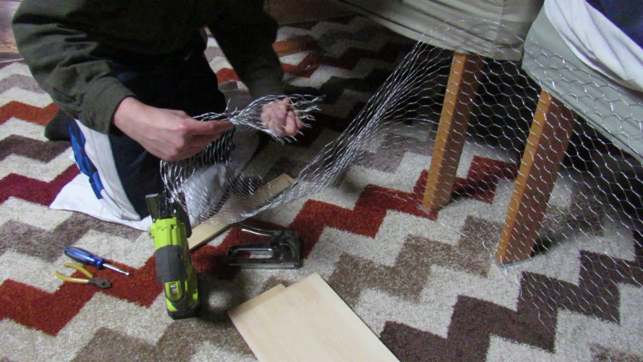 DIY indoor bunny cage made with chicken wire - YouTube
