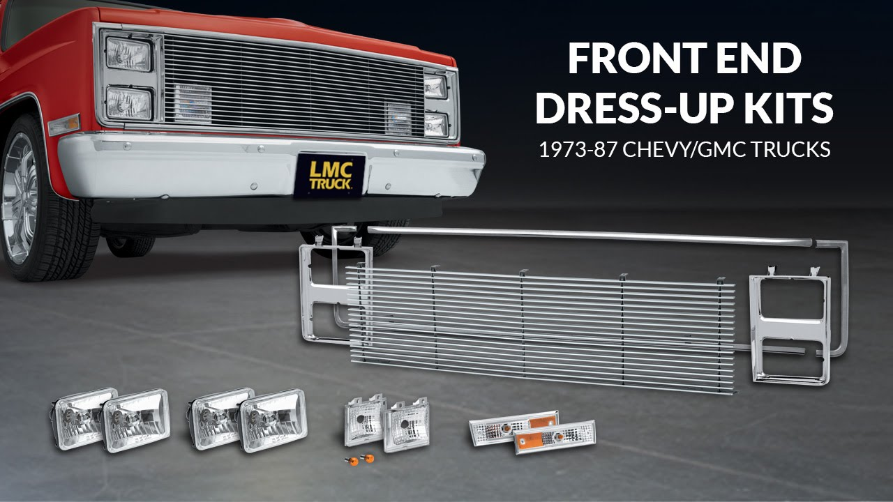 hight resolution of front end dress up kit for chevy gmc trucks trucku with lmc truck youtube
