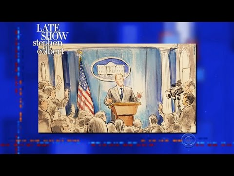 Stephen Leaks Drawings Of Sean Spicer's No-Camera Press Briefing