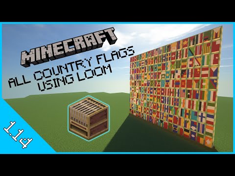 Minecraft All Country Flags Using Loom In 1.14 And Beyond