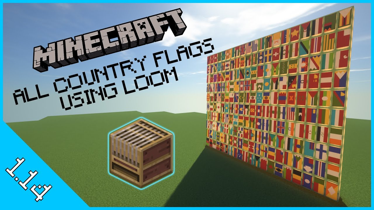 Minecraft All Country Flags Using Loom In 1 14 And Beyond Youtube