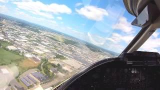Learjet 35A Landing Teterboro NJ