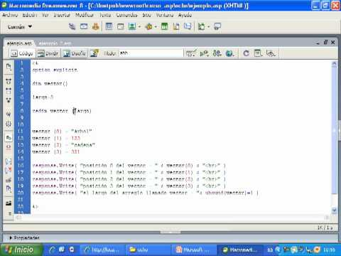 Videotutorial 8 ASP y SQL Server